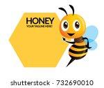 cartoon cute bee pointing to...