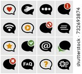 speech bubble icons set for web ... | Shutterstock .eps vector #732693874