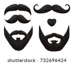 male beards and mustache... | Shutterstock .eps vector #732696424