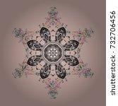 snowflakes vector illustration. ... | Shutterstock .eps vector #732706456
