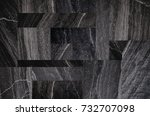 black stone texture background  ... | Shutterstock . vector #732707098