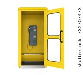 Yellow Telephone Booth With...