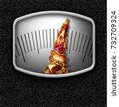junk food weight scale as... | Shutterstock . vector #732709324