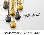 spanish feliz navidad.... | Shutterstock .eps vector #732712330