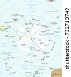 antarctic region map   detailed ... | Shutterstock .eps vector #732713749