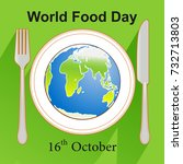world food day earth icon on... | Shutterstock .eps vector #732713803