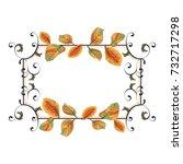 vintage frames with vignettes... | Shutterstock .eps vector #732717298