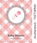 baby shower card design. vector ... | Shutterstock .eps vector #732718960
