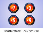 special price badges with euro... | Shutterstock .eps vector #732724240
