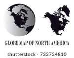 high detailed black globes and...   Shutterstock .eps vector #732724810