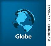 vector logo globe | Shutterstock .eps vector #732740218