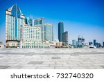 waitan building in shanghai.... | Shutterstock . vector #732740320