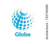 vector logo globe | Shutterstock .eps vector #732740380