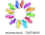 children's shoes isolated | Shutterstock . vector #73275655