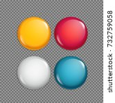different sale magnet buttons... | Shutterstock .eps vector #732759058
