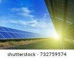 solar panels  photovoltaic ... | Shutterstock . vector #732759574