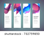 vector vertical banner design | Shutterstock .eps vector #732759850