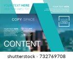 presentation layout design... | Shutterstock .eps vector #732769708