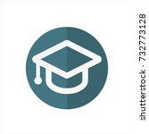 education cap icon in trendy... | Shutterstock .eps vector #732773128