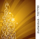 gold christmas background / vector illustration - stock vector