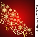 snowflakes background / christmas ornament / vector - stock vector