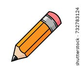 cartoon pencil | Shutterstock .eps vector #732783124