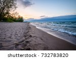 A Calm Afternoon At A Beach In...