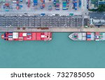 shipping cargo to harbor... | Shutterstock . vector #732785050