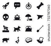 16 vector icon set   rocket ... | Shutterstock .eps vector #732787360