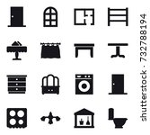 16 vector icon set   door  arch ... | Shutterstock .eps vector #732788194