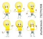 vector set of six cartoon...   Shutterstock .eps vector #732791908