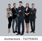 group of smiling business... | Shutterstock . vector #732793033
