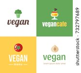 vector set of logotypes for... | Shutterstock .eps vector #732797689