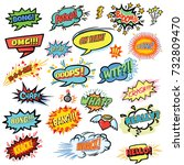 colorful comic speech collection | Shutterstock .eps vector #732809470