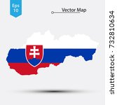 simple map of slovakia with...