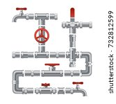 set of  details pipes different ... | Shutterstock .eps vector #732812599