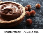 homemade hazelnut spread in...   Shutterstock . vector #732815506