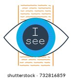 concept of seeing the truth  in ... | Shutterstock .eps vector #732816859