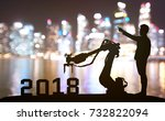silhouette of business man... | Shutterstock . vector #732822094