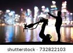 silhouette of business man... | Shutterstock . vector #732822103