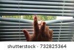 man's hand revealing white... | Shutterstock . vector #732825364