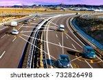 car and technology. autonomous... | Shutterstock . vector #732826498