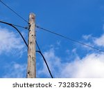 Old  Wooden Telephone Pole...