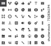 car parts vector icons set ... | Shutterstock .eps vector #732836194