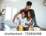 smiling african american family ... | Shutterstock . vector #732836488