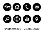 web icon set | Shutterstock .eps vector #732838039