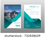 annual report brochure layout... | Shutterstock .eps vector #732838639