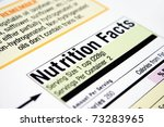nutrition facts | Shutterstock . vector #73283965