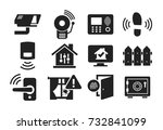 home security and protection...   Shutterstock .eps vector #732841099
