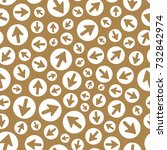 arrows. seamless pattern.... | Shutterstock .eps vector #732842974